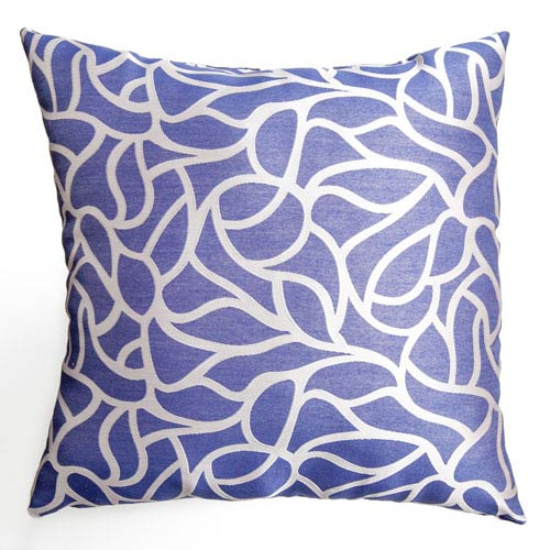 Softline Home Fashions Blaine Blue Violet 8 x 8 In. Teardrop Jacquard