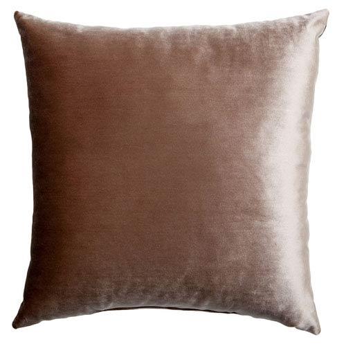 Tatum Walnut 8 x 8 In. Luxurious Velvet Decorative Pillow