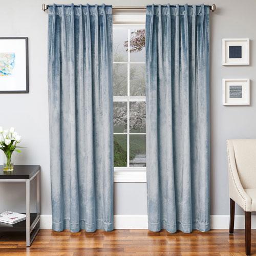 Softline Home Fashions Tatum Mist 84 x 55 In. Luxurious Velvet Panel