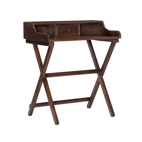 Leilani Antique Walnut Folding Desk