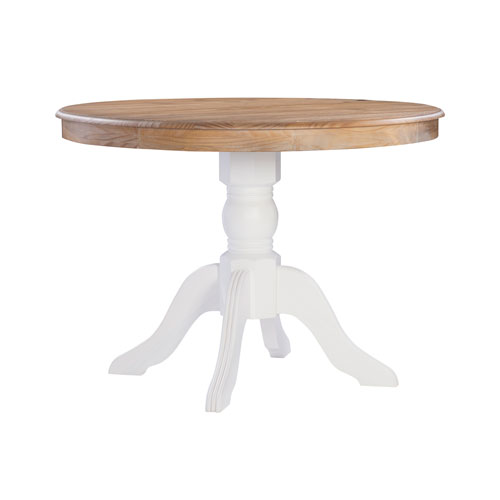 Triena White 42-Inch Dining Table