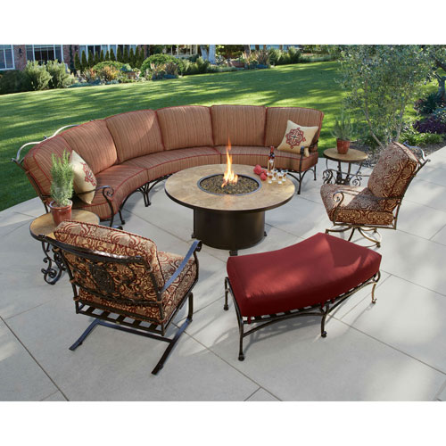 San Cristobal Copper Canyon Swivel Rocker Lounge Chair With Cushions