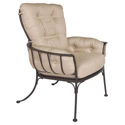 O.W. Lee Club Dining Arm Chair, Copper Canyon and Flagship Stone