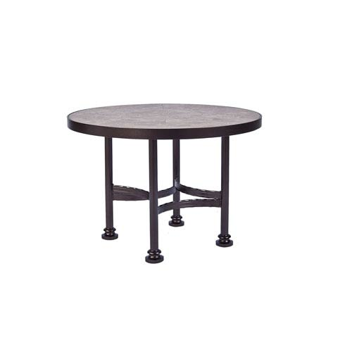 Ordinaire O.W. Lee Side Table Base With 30 Inch Round Top Copper Canyon And Roma Dark