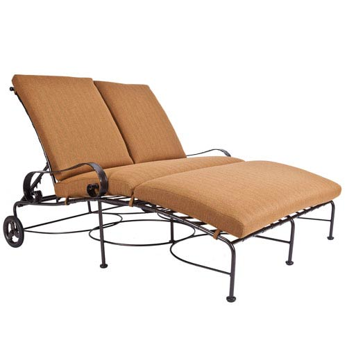 Double Chaise Lounge, Copper Canyon and Trax Teak