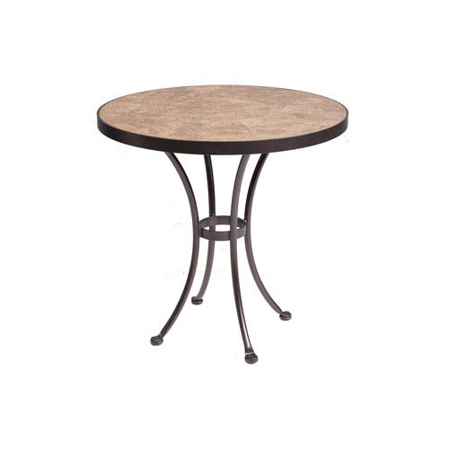 OW Lee Dining Table Base With Inch Round Top Copper Canyon And - 30 inch table base