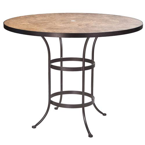Bar Table Base with 54-inch Round Top w/Umbrella Hole, Copper Canyon and Copper Canyon