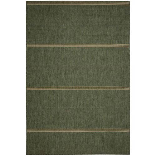 Rug Inlet Stripe 7X10 Green