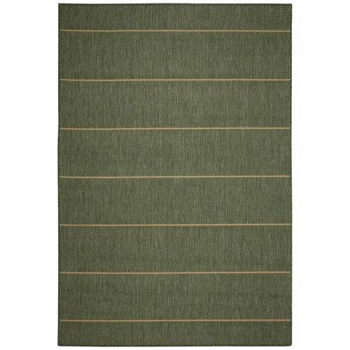 Rug Palmetto Stripe 7X10 Green