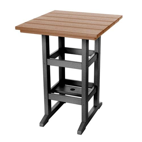 Durawood Black and Cedar Counter Height Table
