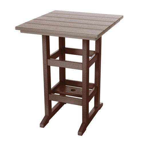 Durawood Chocolate and Weatherwood Counter Height Table