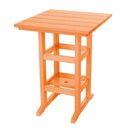 Pawley's Island Durawood Orange Counter Height Table