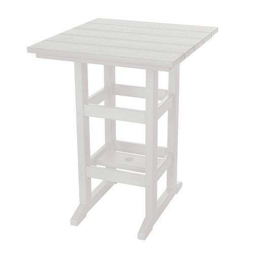 Durawood White Counter Height Table