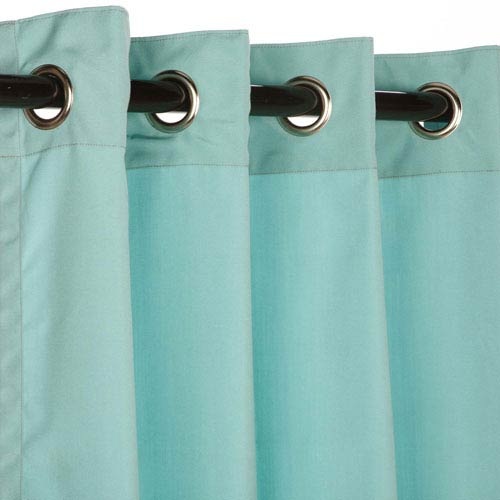 Pawley's Island Sunbrella Curtain with Grommets Canvas Glacier
