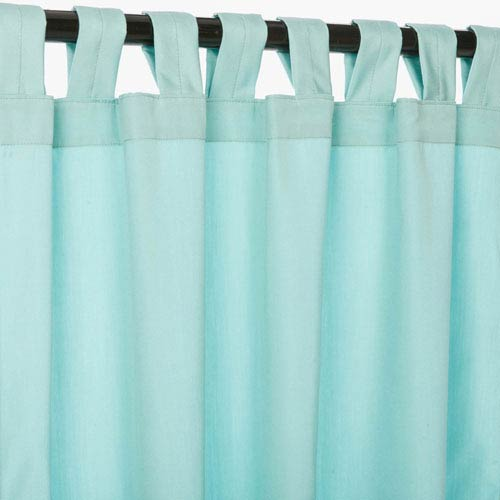 Pawley's Island Sunbrella Curtains with Tabs Canvas Glacier