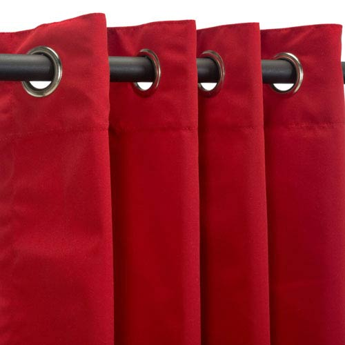 Sunbrella Curtains with Grommets Jockey Red