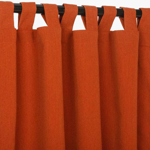 Pawley's Island Sunbrella Curtains with Tabs Brick
