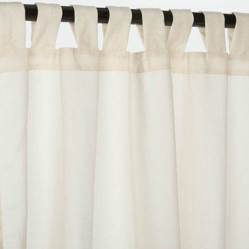 Curtain Tab Sunbrella Eggshell 96-Inch