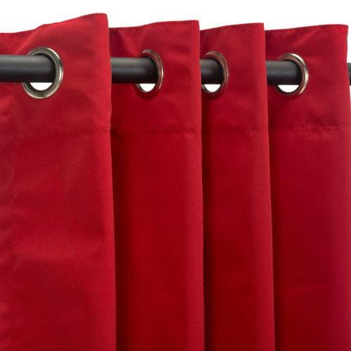 Curtain Nickel Grom Sunbrella Jockey Red
