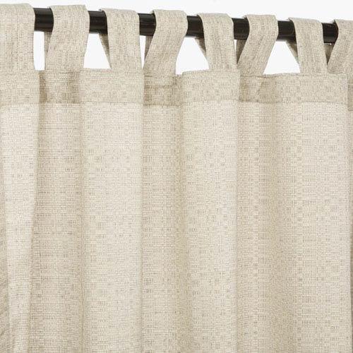 Curtain Tab Sunbrella Silver 96-Inch