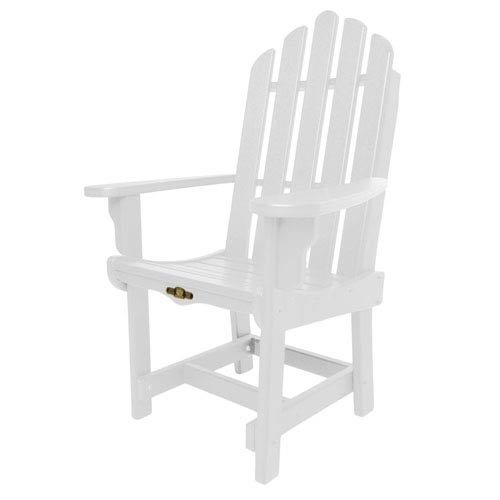 Pawley's Island Essentials White Dining Chair/Arms