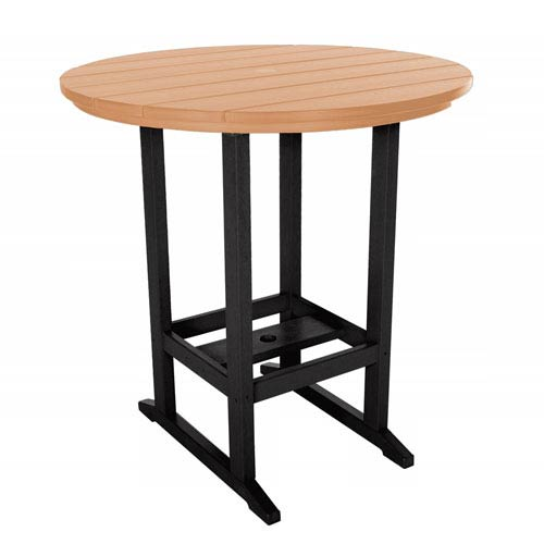 Black/Cedar High Dining Table Round