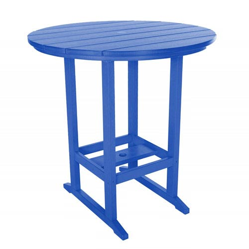 Blue High Dining Table Round