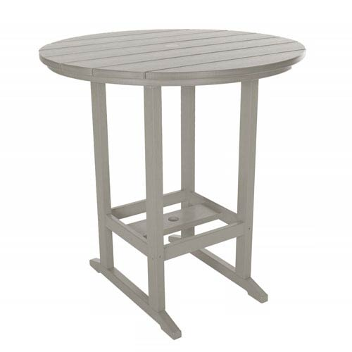 Gray High Dining Table Round