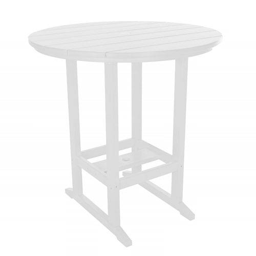 White High Dining Table Round