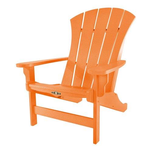 Sunrise Dew Orange Adirondack Chair