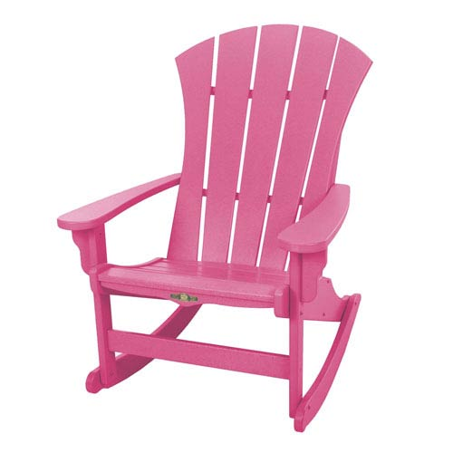 Sunrise Dew Pink Adirondack Rocker