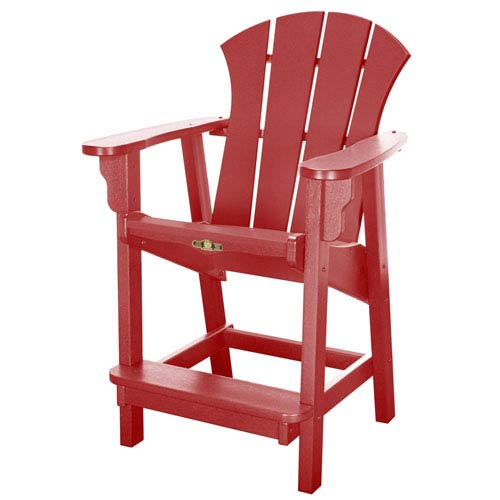 Pawley's Island Sunrise Dew Red Counter Chair