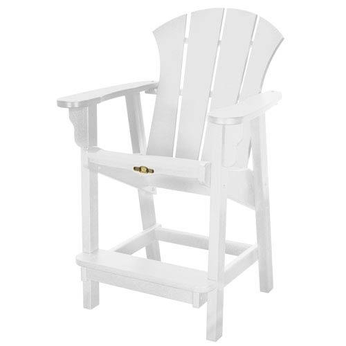 Sunrise Dew White Counter Chair