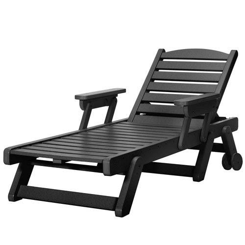 Sunrise Dew Black Chaise Lounge