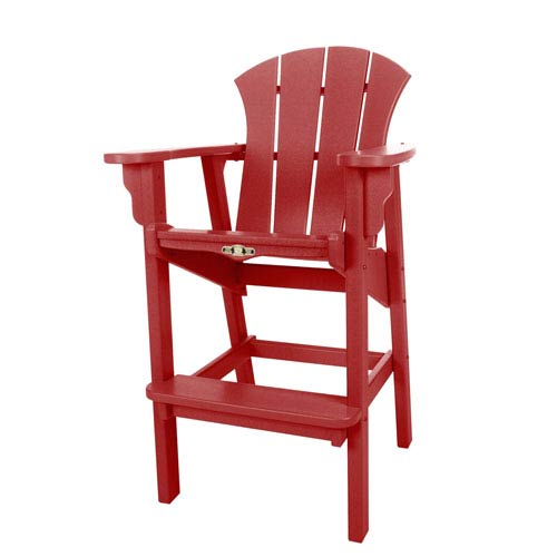 Sunrise Dew Red High Dining Chair
