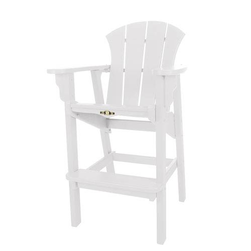 Sunrise Dew White High Dining Chair