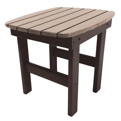 Chocolate/Weatherwood Side Table