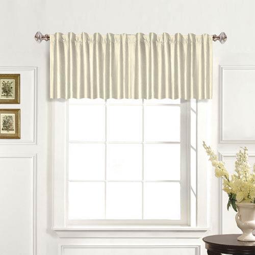 United Curtain Co. 100% Dupioni Silk Oyster 19 x 42 In. Topper