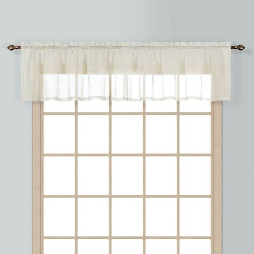 United Curtain Co. Batiste Natural 16 x 54 In. Topper