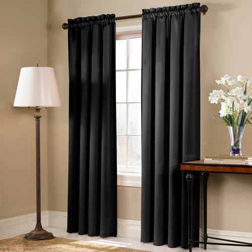United Curtain Co. Blackstone Black 63 x 54 In. Curtain Panel