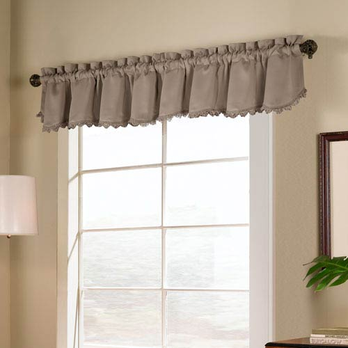 United Curtain Co. Blackstone Taupe 18 x 54 In. Topper