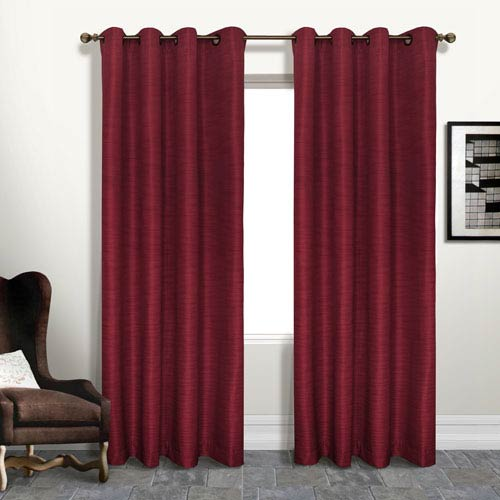 United Curtain Co. Brighton Brick 95 x 54 In. Curtain Panel, Set of Two