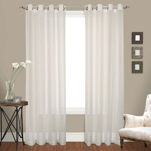 United Curtain Co. Cranston Natural 84 x 100 In. Curtain Panel Set, Set of Two