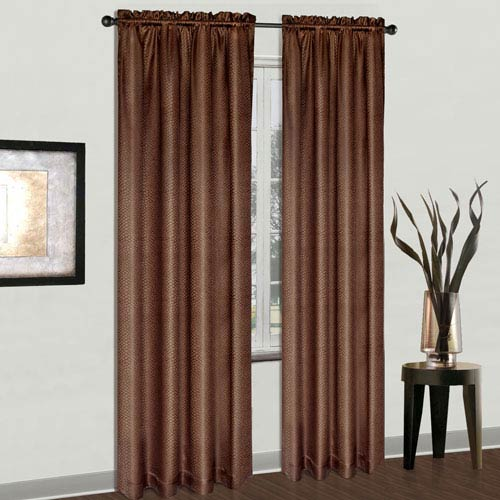 United Curtain Co. Cyndee Chocolate 84 x 54 In. Curtain Panel