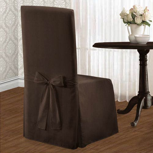 Metro Chocolate 39 x 18 In. Dining Room Chair Cover