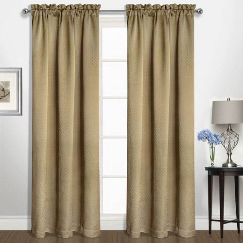 United Curtain Co. Kate Camel 84 x 50 In. Curtain Panel
