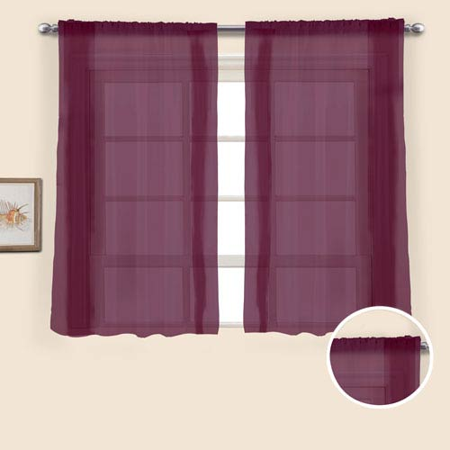 United Curtain Co. Monte Carlo Burgundy 45 x 118 In. Curtain Panel Set, Set of Two