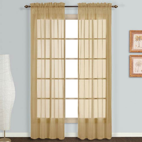 United Curtain Co. Monte Carlo Bronze 84 x 118 In. Curtain Panel Set, Set of Two