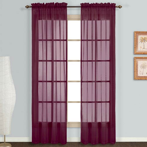 United Curtain Co. Monte Carlo Burgundy 95 x 118 In. Curtain Panel Set, Set of Two