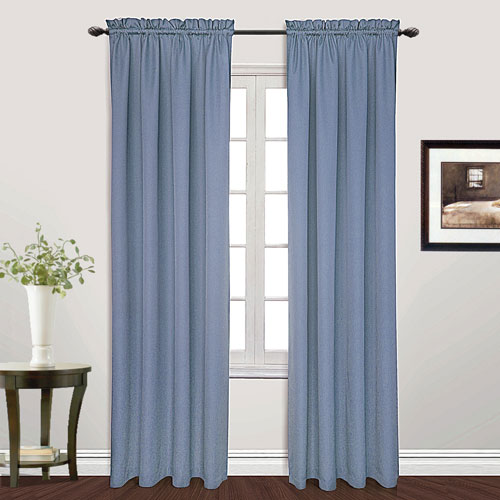United Curtain Co. Metro Blue 63 x 54 In. Curtain Panel